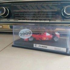 Coleccionismo deportivo: MODEL OF THE 1ST FERRARI CAR 1:43 SCALE SIGNED BY MICHAEL SCHUMACHER FIRMADO A MANO AUTOGRAFO. Lote 242008680