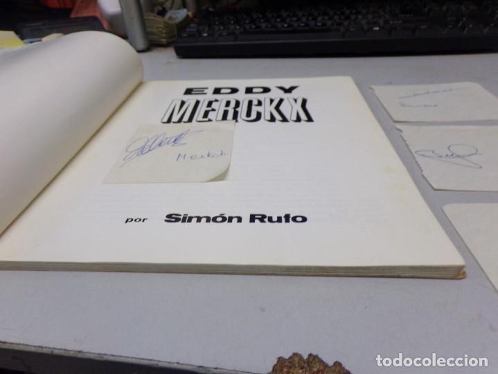 Coleccionismo deportivo: autografo eddy merckx y otros ciclistas ciclismo de la epoca con su libro tour de francia giro vuelt - Foto 9 - 242340760