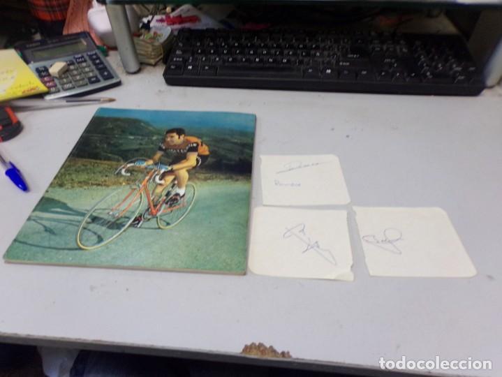 Coleccionismo deportivo: autografo eddy merckx y otros ciclistas ciclismo de la epoca con su libro tour de francia giro vuelt - Foto 15 - 242340760