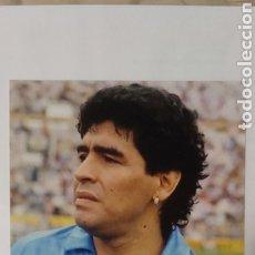 Coleccionismo deportivo: FOTO MARADONA CON EL NAPOLES CAMPEON CON AUTOGRAFO Y COA CERTIFICADO DE AUTENTICIDAD. Lote 243459650
