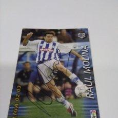 Coleccionismo deportivo: CROMO RAÚL MOLINA - RECREATIVO DE HUELVA.. Lote 243621840