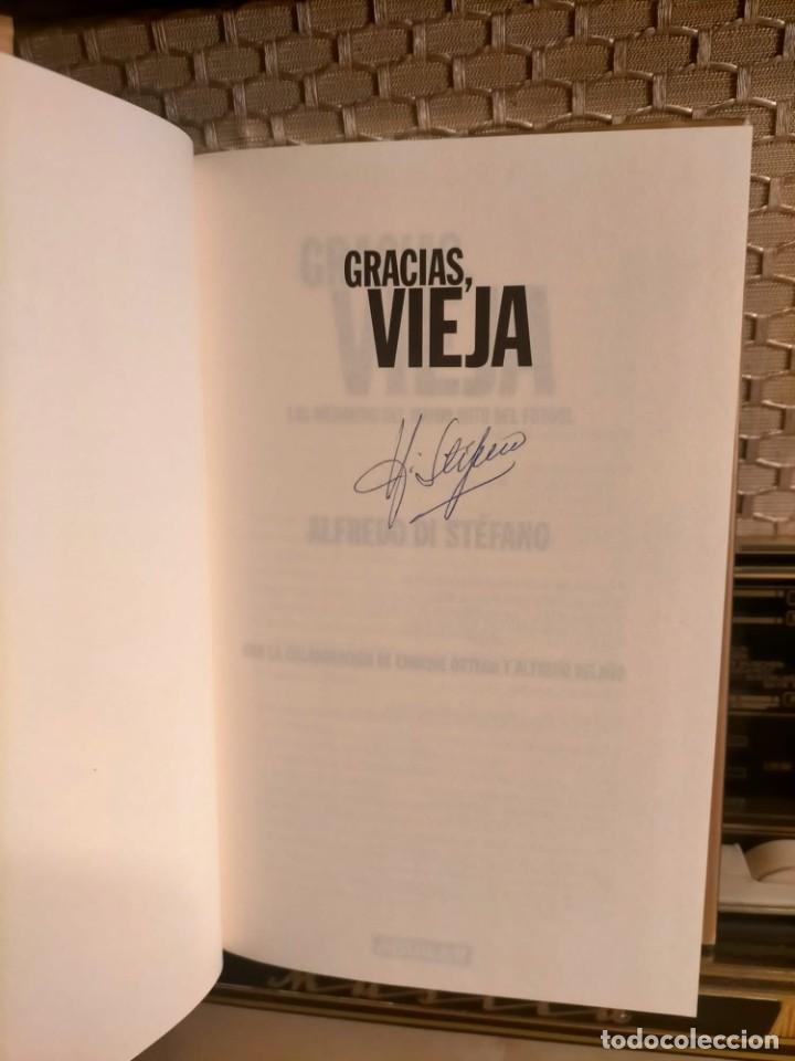 Coleccionismo deportivo: ALFREDO DI STÉFANO BOOK HAND SIGNED AUTOGRAPH REAL MADRID ORIGINAL AUTOGRAFO FIRMADO A MANO - Foto 5 - 244410145