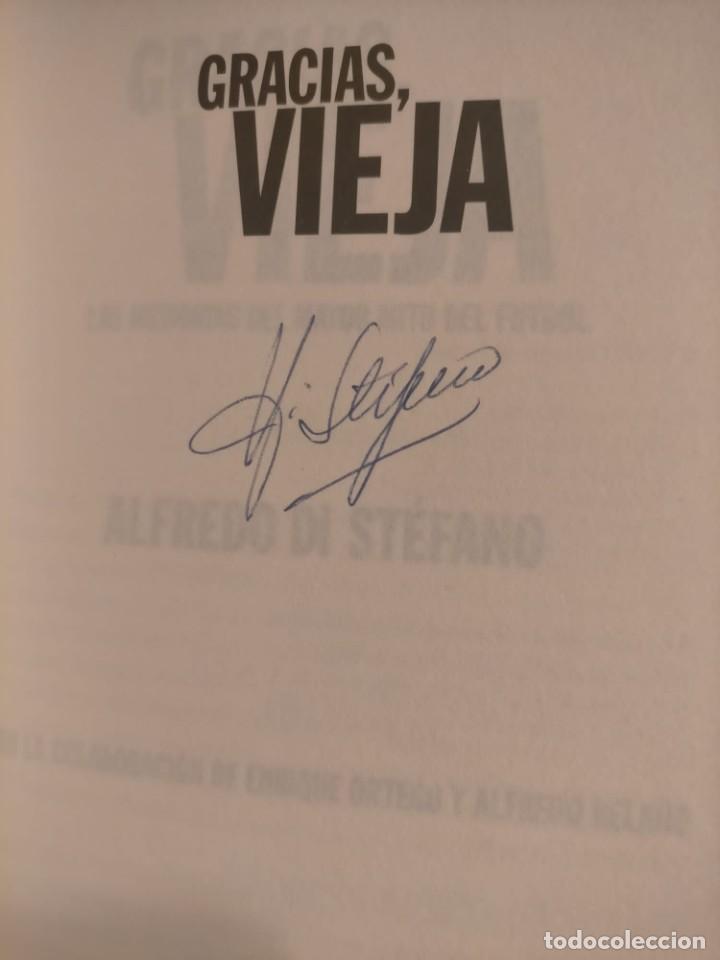 Coleccionismo deportivo: ALFREDO DI STÉFANO BOOK HAND SIGNED AUTOGRAPH REAL MADRID ORIGINAL AUTOGRAFO FIRMADO A MANO - Foto 7 - 244410145