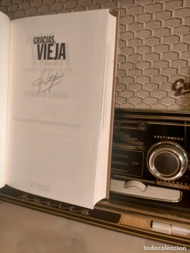 Coleccionismo deportivo: ALFREDO DI STÉFANO BOOK HAND SIGNED AUTOGRAPH REAL MADRID ORIGINAL AUTOGRAFO FIRMADO A MANO - Foto 9 - 244410145