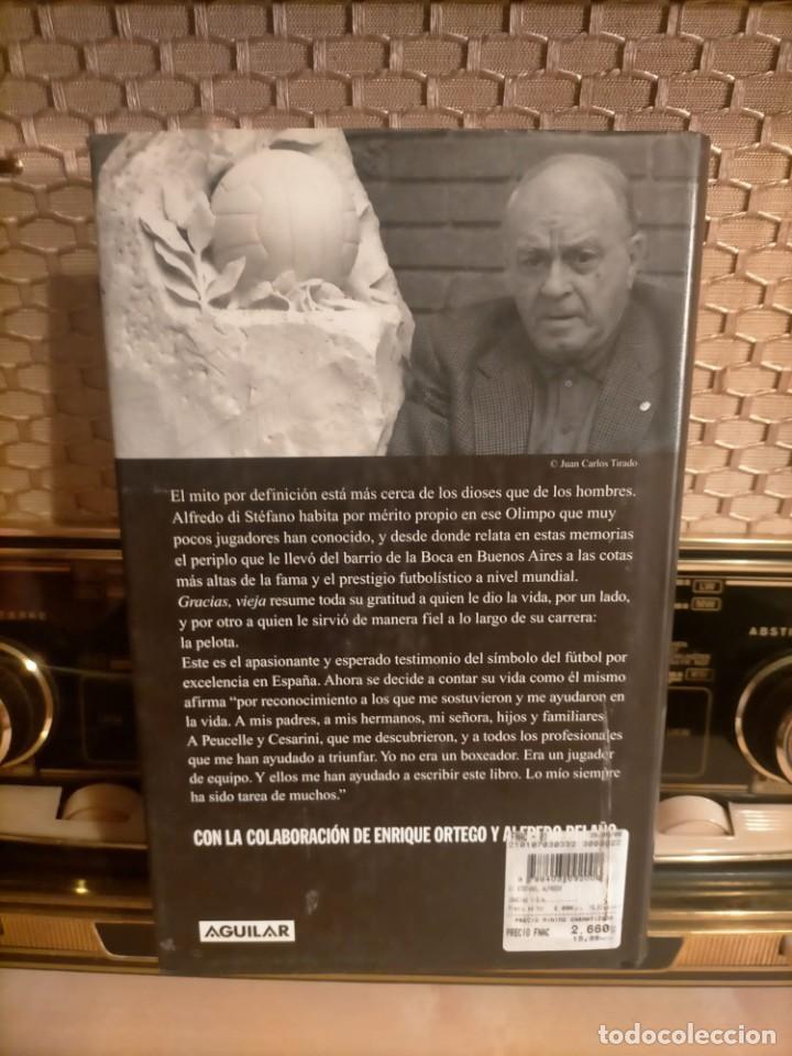 Coleccionismo deportivo: ALFREDO DI STÉFANO BOOK HAND SIGNED AUTOGRAPH REAL MADRID ORIGINAL AUTOGRAFO FIRMADO A MANO - Foto 10 - 244410145