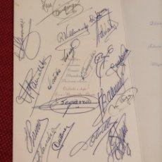 Coleccionismo deportivo: MINUTA - COPA GENERALISIMO 1957 - FIRMAS JUGADORES FUTBOL CLUB BARCELONA - KUBALA, RAMALLETS...ETC. Lote 244582915
