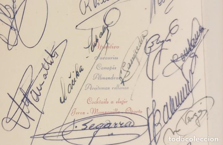 Coleccionismo deportivo: MINUTA - COPA GENERALISIMO 1957 - FIRMAS JUGADORES FUTBOL CLUB BARCELONA - KUBALA, RAMALLETS...ETC - Foto 5 - 244582915