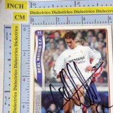 Coleccionismo deportivo: CROMO TRADING CARD LIGA 2004 2005. REAL MADRID CLUB DE FÚTBOL. AUTÓGRAFO FIRMA IVÁN HELGUERA. Lote 244732950