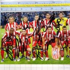 Coleccionismo deportivo: FOTO FOTOGRAFÍA PLANTILA FÚTBOL ATLÉTICO DE MADRID. 2008 2009. FIRMA AUTÓGRAFO SIMAO MAXI LEO . 3312. Lote 244736510