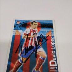 Coleccionismo deportivo: CROMO DAVID LÓPEZ - LUGO.. Lote 244740740