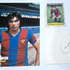 Coleccionismo deportivo: AUTÓGRAFO F. C. BARCELONA ORIGINAL ANTIGUO ( LOBO CARRASCO) ORIGINAL. VER FOTOS.. Lote 245960695