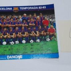 Coleccionismo deportivo: AUTÓGRAFO ORIGINAL BERND SHUSTER Y FOTO POSTAL MARADONA PLANTILLA 1982/83 . VER FOTOS.. Lote 245967680