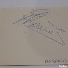 Coleccionismo deportivo: AUTÓGRAFO DE ( ALEXANCO ) F.C. BARCELONA.ORIGINAL .VER FOTOS.. Lote 245983265