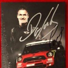 Coleccionismo deportivo: DANI SORDO WRC MINI POSTAL ORIGINAL AUTOGRAFIADA. Lote 246105315