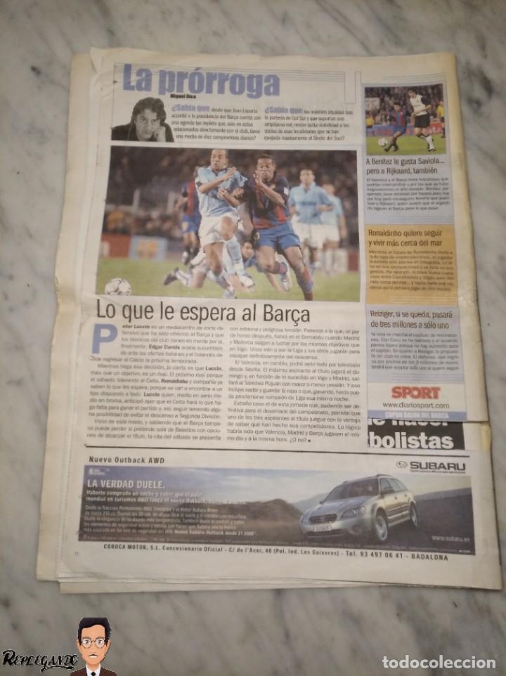 Coleccionismo deportivo: FIRMA CON DEDICATORIA JOAN LAPORTA - PRESIDENTE F.C. BARCELONA (BARÇA) EN DIARIO SPORT - AÑO 2004 - Foto 5 - 246583910