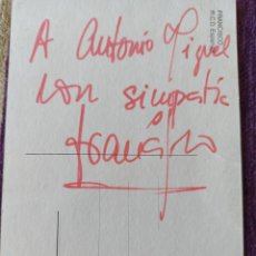 Coleccionismo deportivo: AUTOGRAFO DE FRANCISCO LÓPEZ ALFARO. ESPAÑOL&SEVILLA, 15×10 CM.. Lote 246893520