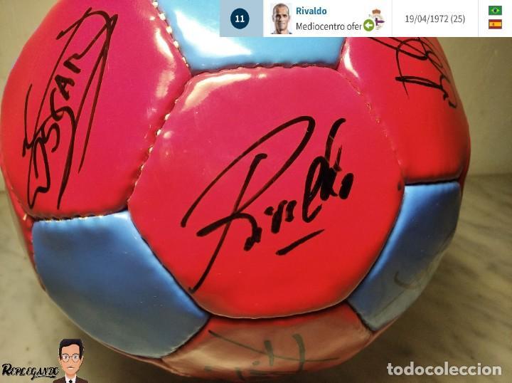 Coleccionismo deportivo: F.C. BARCELONA BALÓN AUTÓGRAFO JUGADORES 97 / 98 - FIGO XAVI RIVALDO BUSQUETS NADAL COUTO ... BARÇA - Foto 9 - 247778175