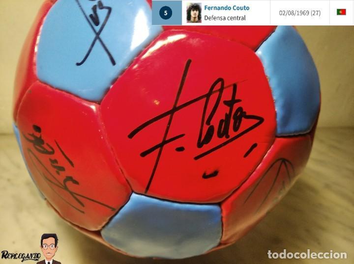 Coleccionismo deportivo: F.C. BARCELONA BALÓN AUTÓGRAFO JUGADORES 97 / 98 - FIGO XAVI RIVALDO BUSQUETS NADAL COUTO ... BARÇA - Foto 10 - 247778175