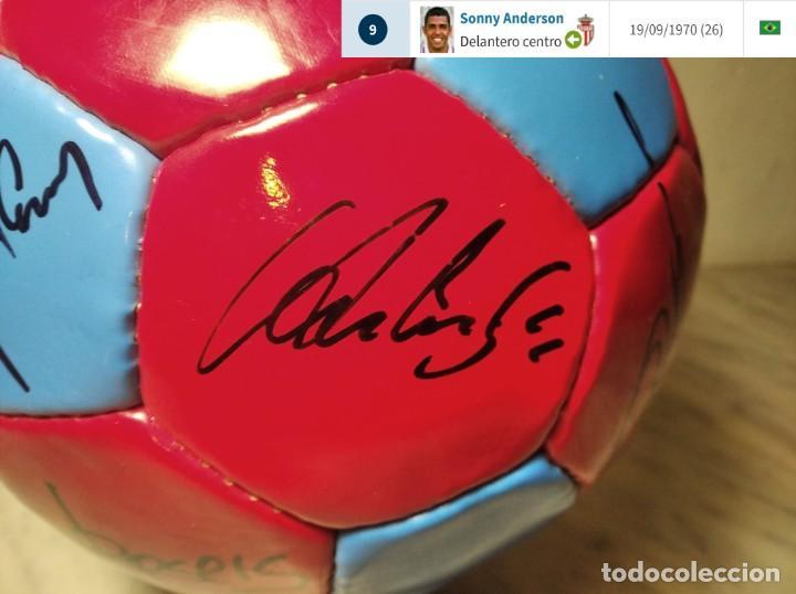 Coleccionismo deportivo: F.C. BARCELONA BALÓN AUTÓGRAFO JUGADORES 97 / 98 - FIGO XAVI RIVALDO BUSQUETS NADAL COUTO ... BARÇA - Foto 14 - 247778175