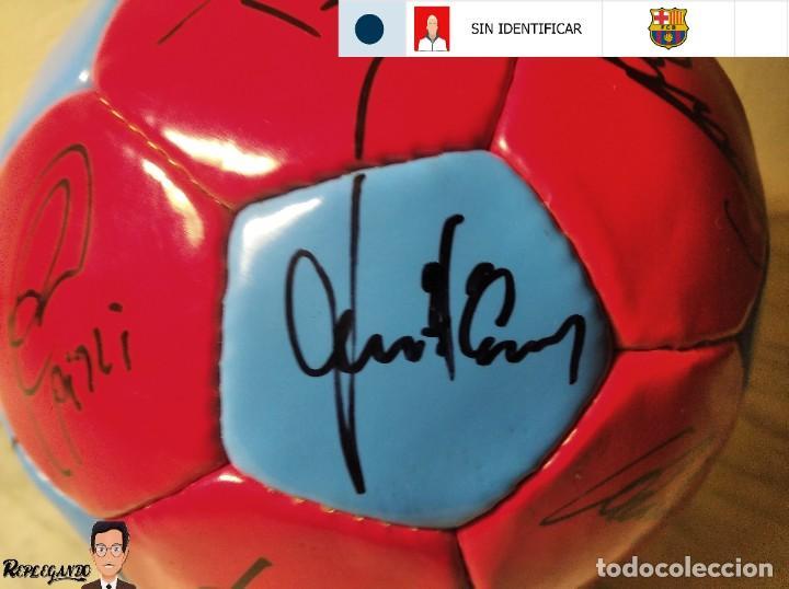 Coleccionismo deportivo: F.C. BARCELONA BALÓN AUTÓGRAFO JUGADORES 97 / 98 - FIGO XAVI RIVALDO BUSQUETS NADAL COUTO ... BARÇA - Foto 19 - 247778175
