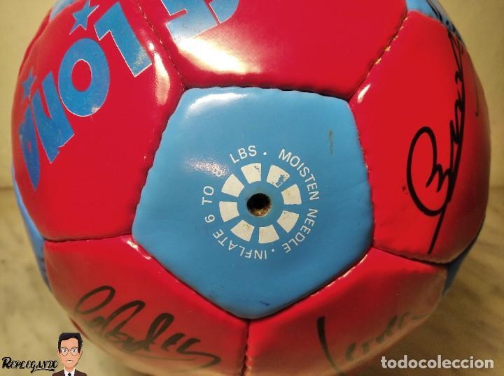 Coleccionismo deportivo: F.C. BARCELONA BALÓN AUTÓGRAFO JUGADORES 97 / 98 - FIGO XAVI RIVALDO BUSQUETS NADAL COUTO ... BARÇA - Foto 22 - 247778175