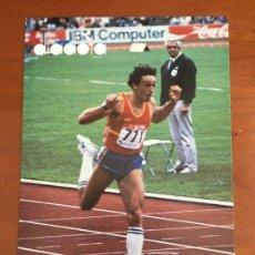 Coleccionismo deportivo: CARLOS SALA ATLETISMO DIADORA POSTAL PUBLICITARIA ORIGINAL CON AUTOGRAFO. Lote 253635970