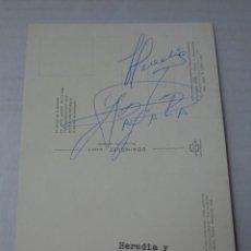 Coleccionismo deportivo: AUTOGRAFO ORIGINAL DE AYALA Y HEREDIA DEL ATLETICO DE MADRID ---- AÑOS 70. Lote 254542105