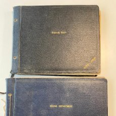 Coleccionismo deportivo: TWO ALBUMS OF SIGNATURES OF THE MOSS BROS WAREHOUSES,. Lote 254665675