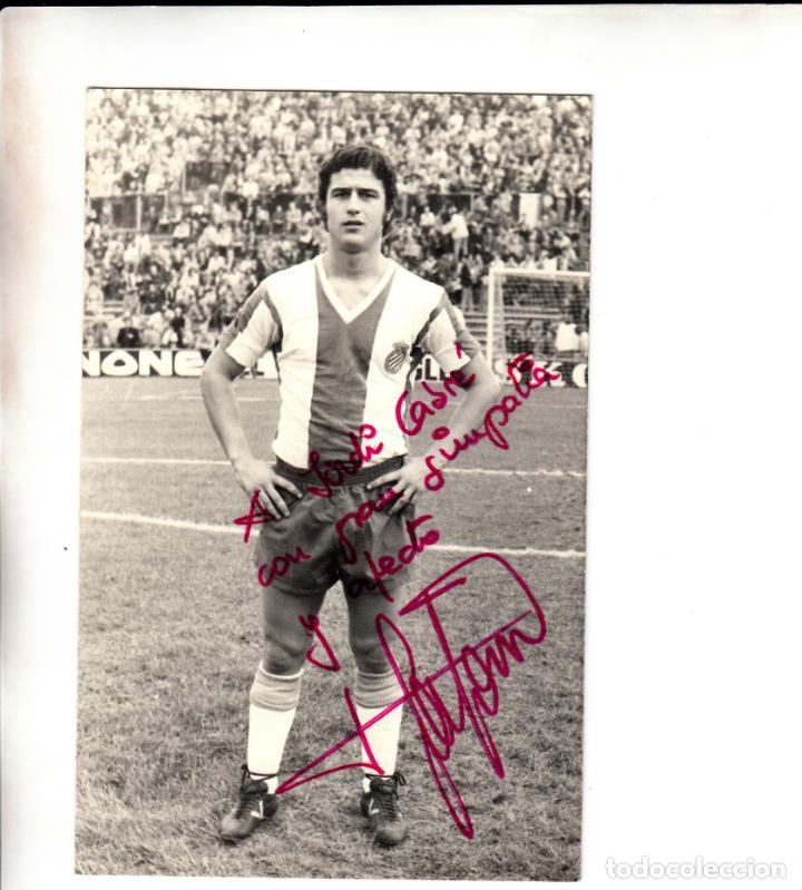 FOTOGRAFIA DANIEL SOLSONA RCD ESPAÑOL DEDICADA Y FIRMADA (Coleccionismo Deportivo - Documentos de Deportes - Autógrafos)