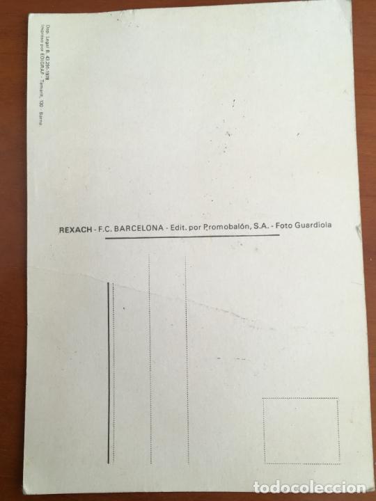 Coleccionismo deportivo: carles rexach futbol barcelona postal original antigua con autografo original publicidad telefunken - Foto 2 - 262741005