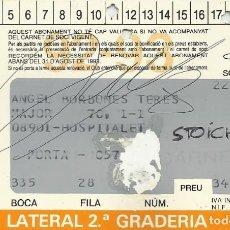 Coleccionismo deportivo: CARNET ABONAMENT ABONO 1992-93. F. C. BARCELONA. FIRMA, AUTÓGRAFO DE HRISTO STOICHKOV. 7X11 CM.. Lote 265931108