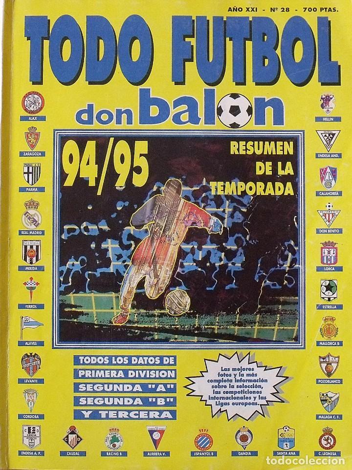 REVISTA TODO FÚTBOL. DON BALÓN. 94-95. CON 290 AUTÓGRAFOS, FIRMAS JUGADORES 1ª, 2ª DIVISIÓN Y EUROPA (Coleccionismo Deportivo - Documentos de Deportes - Autógrafos)
