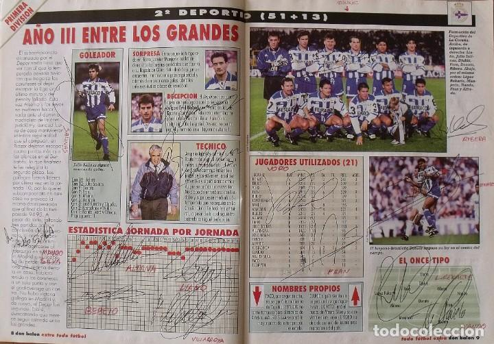 Coleccionismo deportivo: Revista Todo Fútbol. Don Balón. 94-95. Con 290 autógrafos, firmas jugadores 1ª, 2ª división y Europa - Foto 3 - 268424544