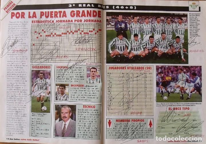 Coleccionismo deportivo: Revista Todo Fútbol. Don Balón. 94-95. Con 290 autógrafos, firmas jugadores 1ª, 2ª división y Europa - Foto 4 - 268424544