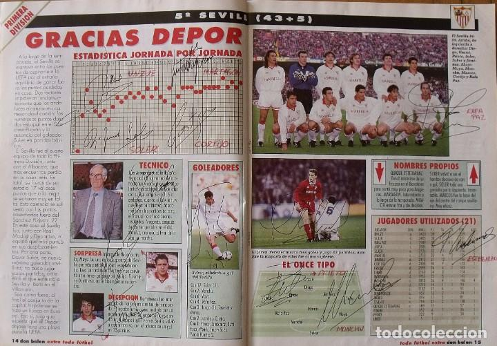 Coleccionismo deportivo: Revista Todo Fútbol. Don Balón. 94-95. Con 290 autógrafos, firmas jugadores 1ª, 2ª división y Europa - Foto 6 - 268424544