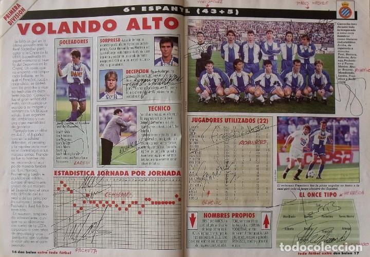 Coleccionismo deportivo: Revista Todo Fútbol. Don Balón. 94-95. Con 290 autógrafos, firmas jugadores 1ª, 2ª división y Europa - Foto 7 - 268424544