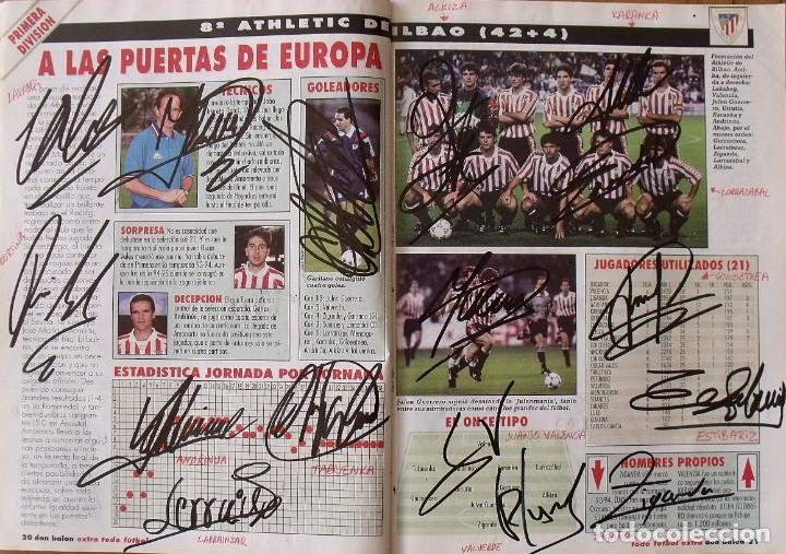 Coleccionismo deportivo: Revista Todo Fútbol. Don Balón. 94-95. Con 290 autógrafos, firmas jugadores 1ª, 2ª división y Europa - Foto 9 - 268424544