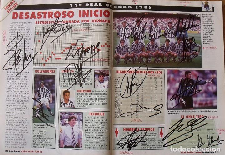 Coleccionismo deportivo: Revista Todo Fútbol. Don Balón. 94-95. Con 290 autógrafos, firmas jugadores 1ª, 2ª división y Europa - Foto 12 - 268424544