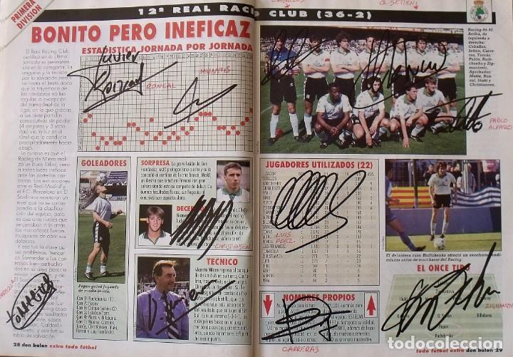 Coleccionismo deportivo: Revista Todo Fútbol. Don Balón. 94-95. Con 290 autógrafos, firmas jugadores 1ª, 2ª división y Europa - Foto 13 - 268424544