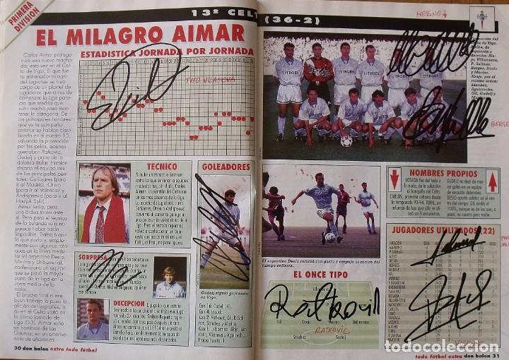 Coleccionismo deportivo: Revista Todo Fútbol. Don Balón. 94-95. Con 290 autógrafos, firmas jugadores 1ª, 2ª división y Europa - Foto 14 - 268424544