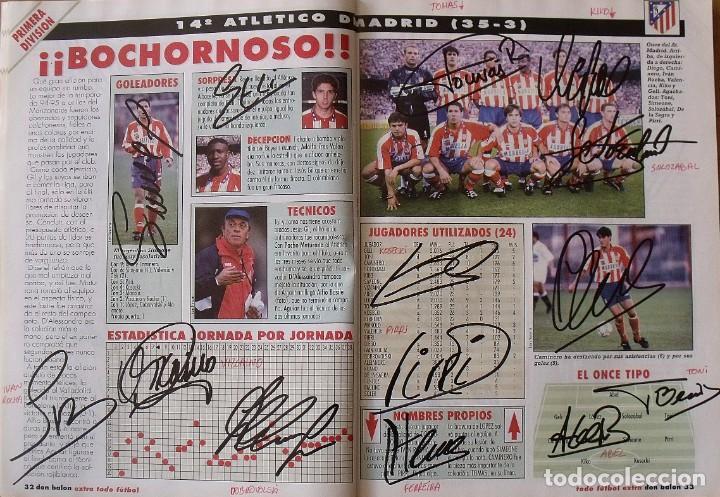 Coleccionismo deportivo: Revista Todo Fútbol. Don Balón. 94-95. Con 290 autógrafos, firmas jugadores 1ª, 2ª división y Europa - Foto 15 - 268424544