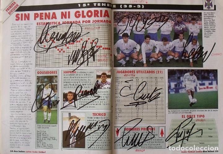 Coleccionismo deportivo: Revista Todo Fútbol. Don Balón. 94-95. Con 290 autógrafos, firmas jugadores 1ª, 2ª división y Europa - Foto 16 - 268424544
