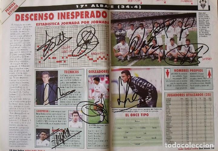 Coleccionismo deportivo: Revista Todo Fútbol. Don Balón. 94-95. Con 290 autógrafos, firmas jugadores 1ª, 2ª división y Europa - Foto 17 - 268424544