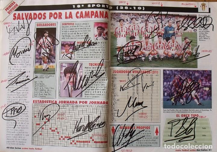 Coleccionismo deportivo: Revista Todo Fútbol. Don Balón. 94-95. Con 290 autógrafos, firmas jugadores 1ª, 2ª división y Europa - Foto 18 - 268424544
