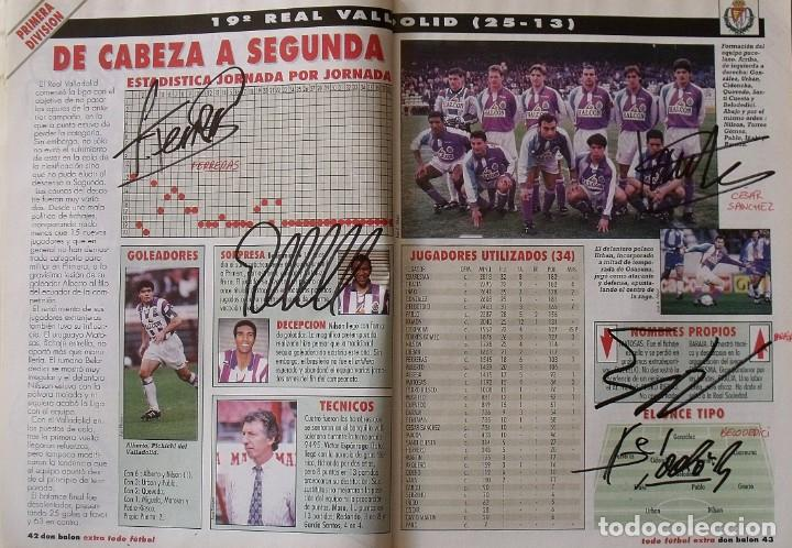 Coleccionismo deportivo: Revista Todo Fútbol. Don Balón. 94-95. Con 290 autógrafos, firmas jugadores 1ª, 2ª división y Europa - Foto 19 - 268424544