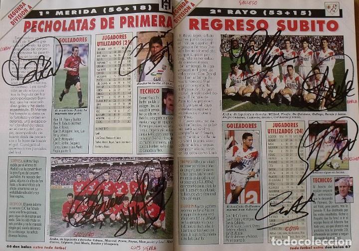 Coleccionismo deportivo: Revista Todo Fútbol. Don Balón. 94-95. Con 290 autógrafos, firmas jugadores 1ª, 2ª división y Europa - Foto 25 - 268424544