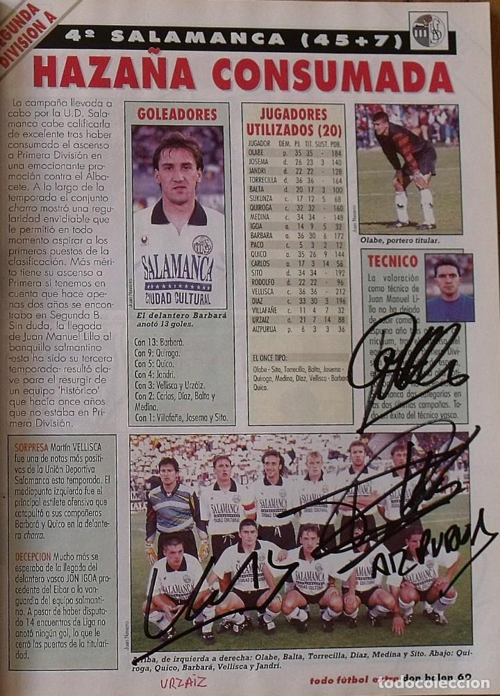Coleccionismo deportivo: Revista Todo Fútbol. Don Balón. 94-95. Con 290 autógrafos, firmas jugadores 1ª, 2ª división y Europa - Foto 26 - 268424544