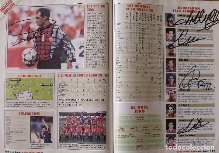 Coleccionismo deportivo: Revista Todo Fútbol. Don Balón. 94-95. Con 290 autógrafos, firmas jugadores 1ª, 2ª división y Europa - Foto 28 - 268424544