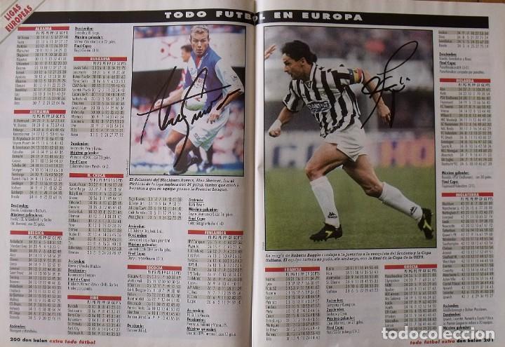 Coleccionismo deportivo: Revista Todo Fútbol. Don Balón. 94-95. Con 290 autógrafos, firmas jugadores 1ª, 2ª división y Europa - Foto 30 - 268424544