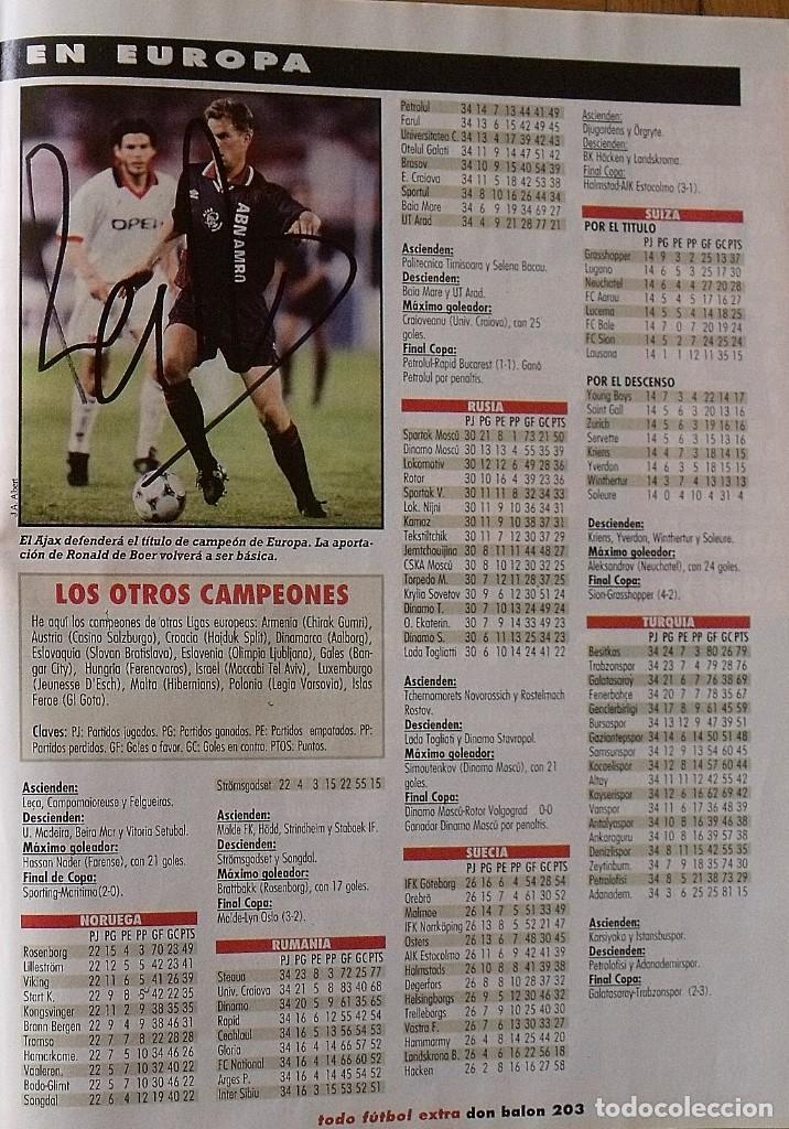Coleccionismo deportivo: Revista Todo Fútbol. Don Balón. 94-95. Con 290 autógrafos, firmas jugadores 1ª, 2ª división y Europa - Foto 31 - 268424544